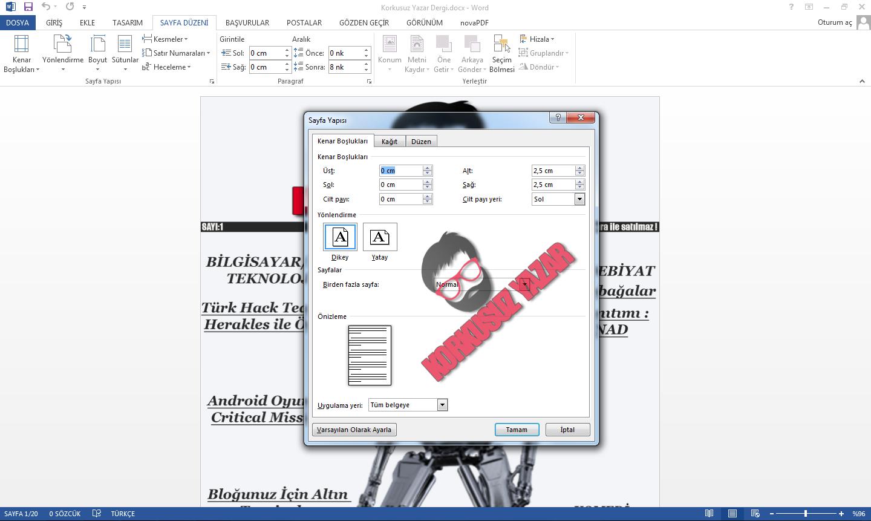Microsoft World  Dergi Oluşturma - PDF 'e çevirme