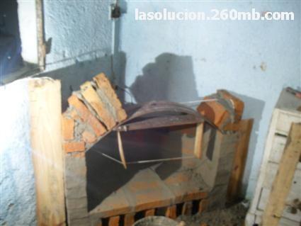Chimenea rinconera de ladrillo - Como hacer una chimenea de obra ...