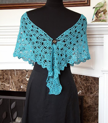 Cool Blue Evening Shawl