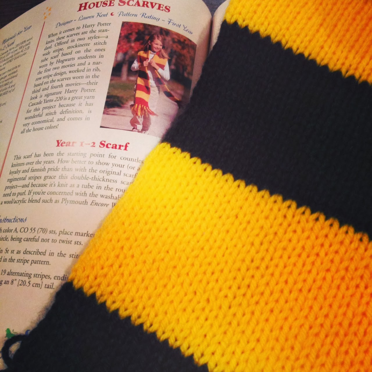 Hufflepuff scarf, Charmed Knits- Cobberson & Co.