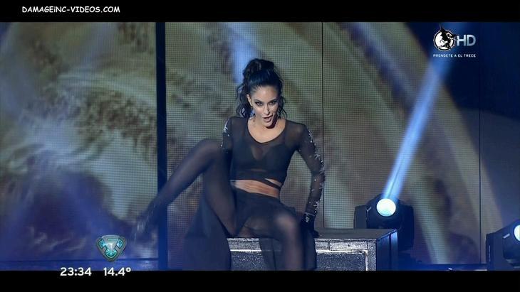 Celeste Muriega legs wide open upskirt damageinc HD video