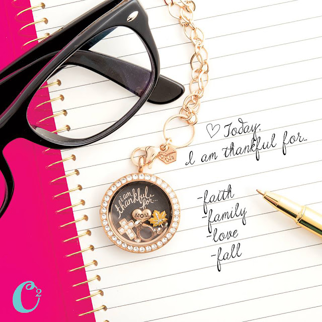 Thankful Heart Origami Owl Living Locket from StoriedCharms.com