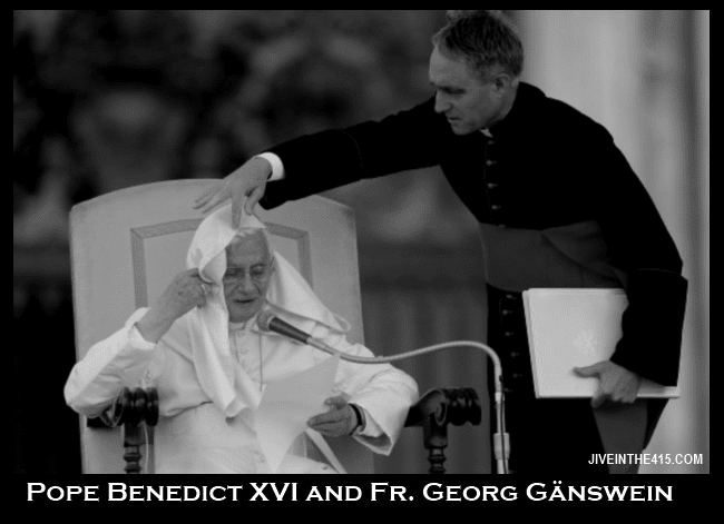 Pope Benedict XVI and Fr. Georg Ganswein