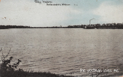 Ardmore City Lake Vintage Postcard 1911 (Front View)