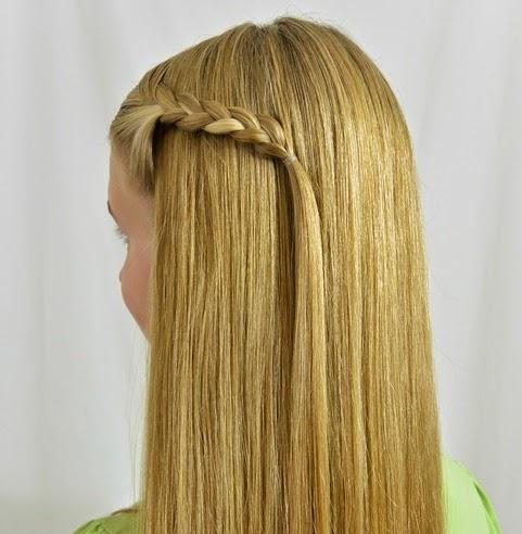Peinados niña faciles - trenza flotante