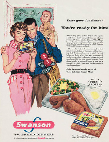 Dying for Chocolate: National TV Dinner Day: TV Dinner Buttermilk