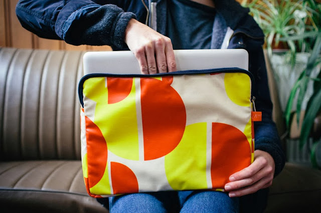 Laptop case from the Weather Collection by Laura Spring