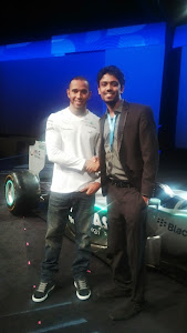 At BlackberryLive with Lewis Hamilton