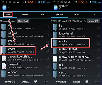 Cara Mudah Install Boot Animation Android M (Marshmallow)  Dengan Root Explorer
