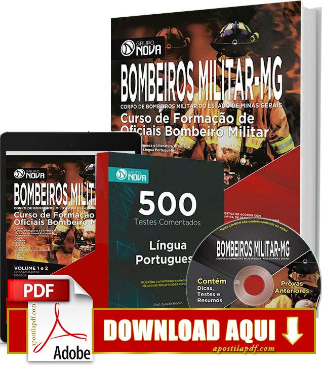 Apostila Oficial Bombeiro MG 2016 PDF Grátis Download