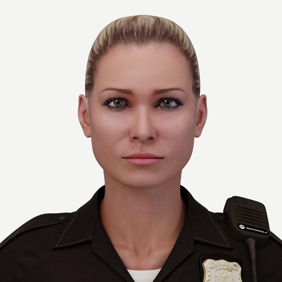3D.ART.Reactor: 3D Model Police Officer White Female