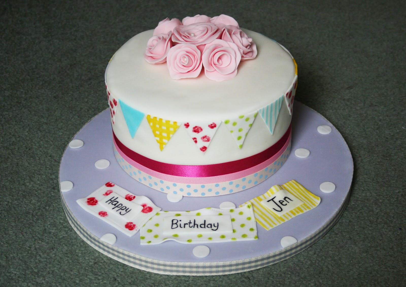 Dann Good Cake Bunting Birthday Cake