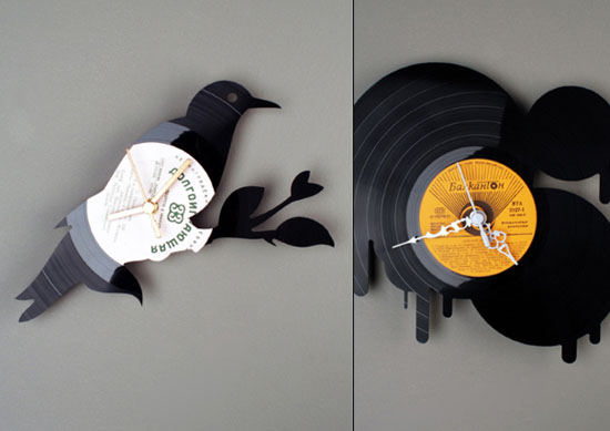 kitchen wall clocks designs ideas use vinyl records clocks of many