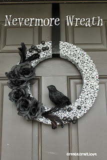 Nevermore Wreath by Create Craft Love