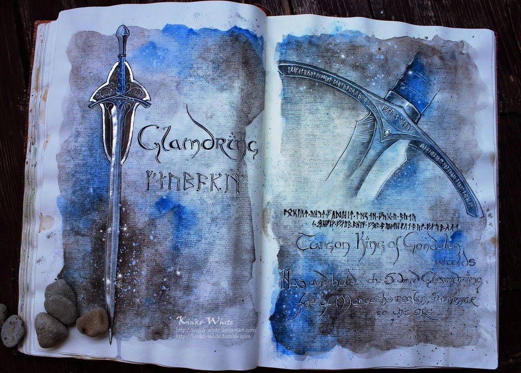 11-Glamdring-Gandalf-Kinko-White-The-Hobbit-Watercolors-www-designstack-co