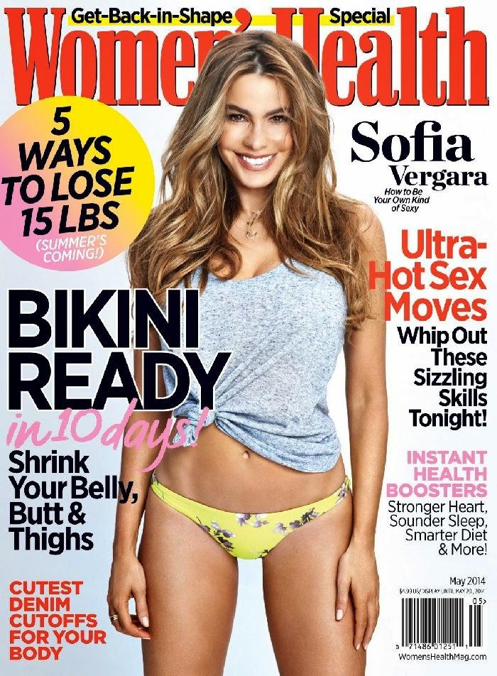 Sofia Vergara Flaunts Amazing Bikini Body in Women's Health for May 2014 Issue