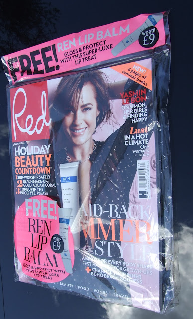 july 2015 magazine freebies red, instyle, glamour, marie claire, malin + goetz