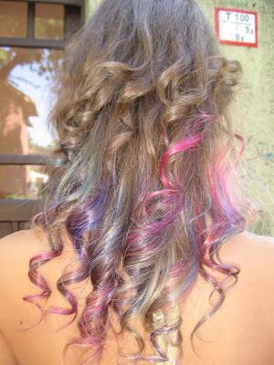 színes hajvég