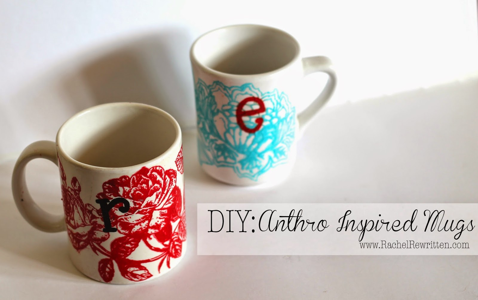 rachel rewritten diy anthro inspired mugs
