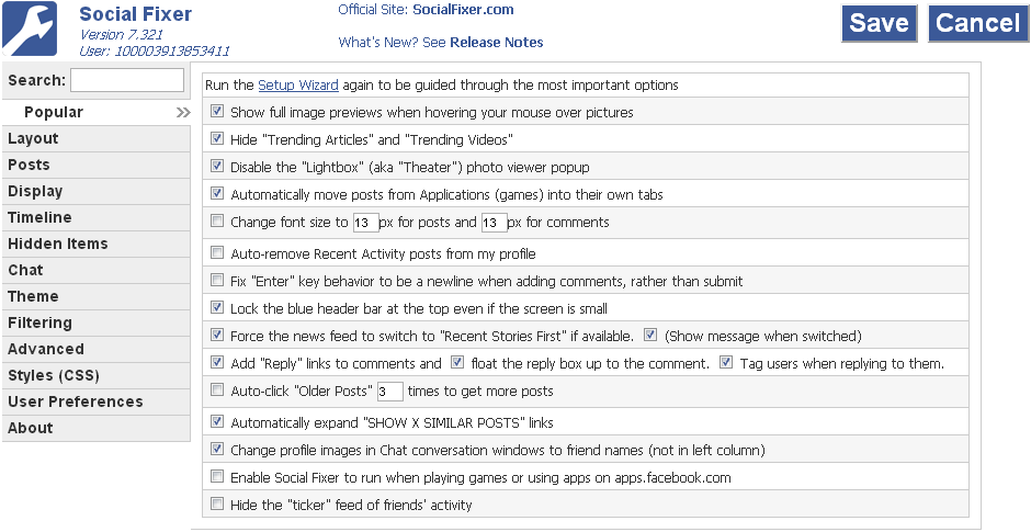 social fixer popular tab