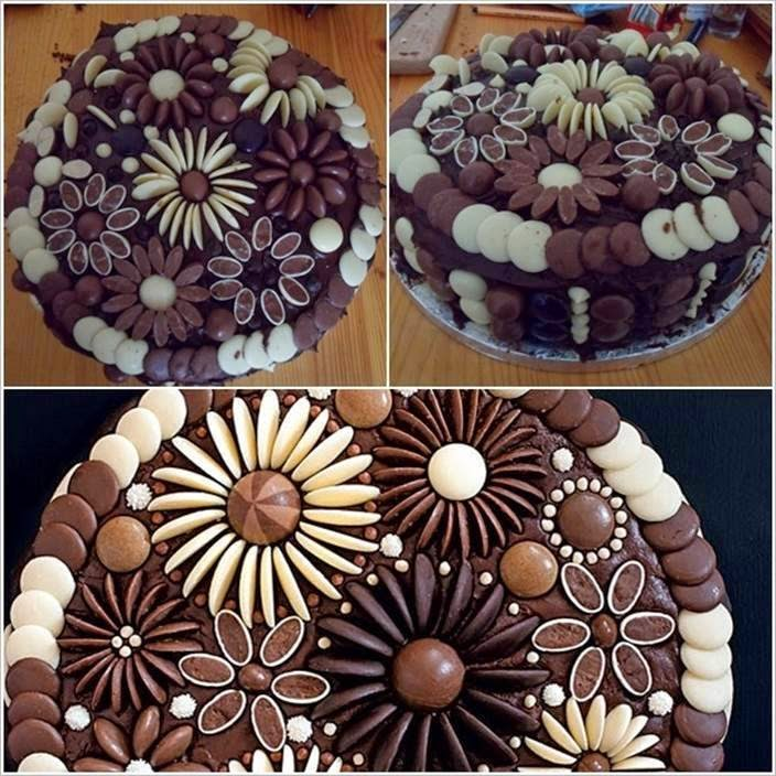 Homemade Chocolate Cake Decorating Ideas : DIY Chocolate Button Cakes Decoration Creative Ideas