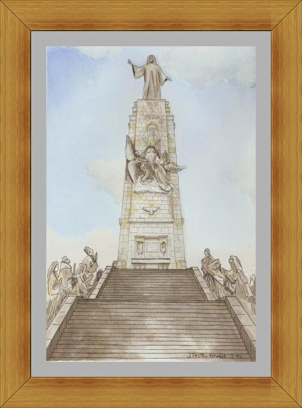 dibujo pintura acuarela plumilla cerro de los angeles getafe tecnica mixta
