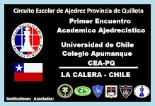 PRIMER ENCUENTRO ACADEMICO AJEDRECISTICOS LA CALERA CHILE 2011