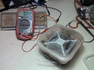 Generador termoeléctrico casero.