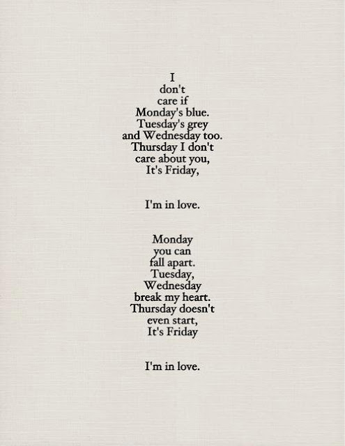letra de la canción Friday I'm In Love de The Cure