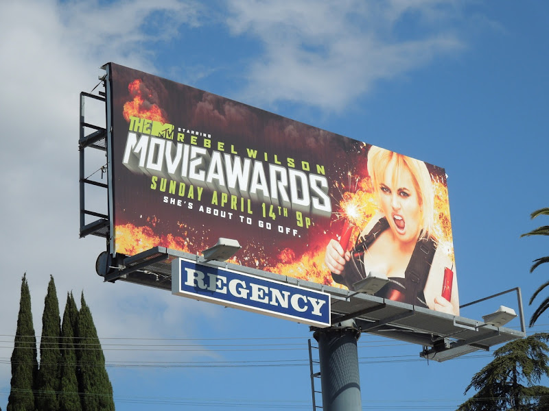 Rebel Wilson MTV Movie Awards billboard