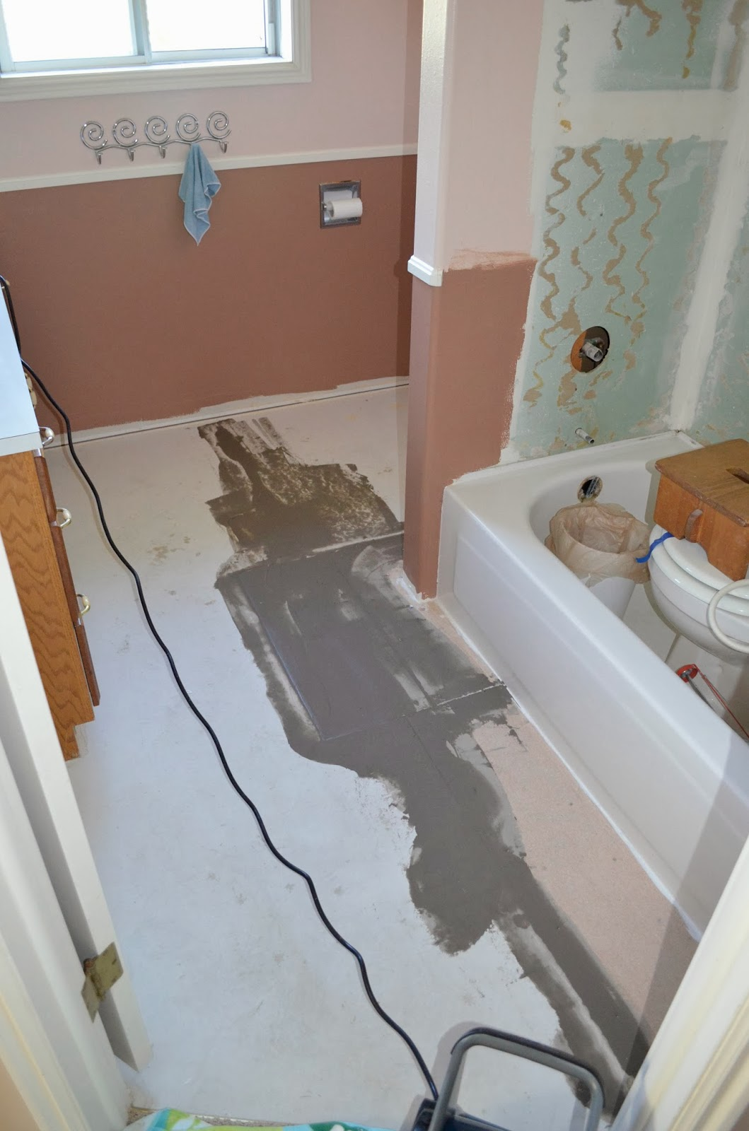 One Thing Leads To Another Mostly DIY Bathroom Repair And Remodel - How to repair bathroom floor tile