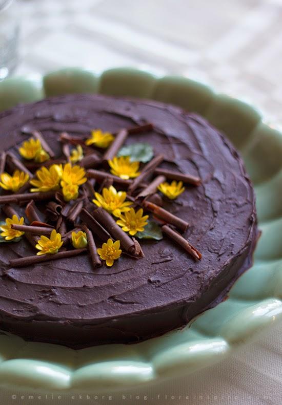 chokladkaka, chokladtårta, kladdkaka de luxe, chocolate cake de luxe, chocolate cake, spring cake