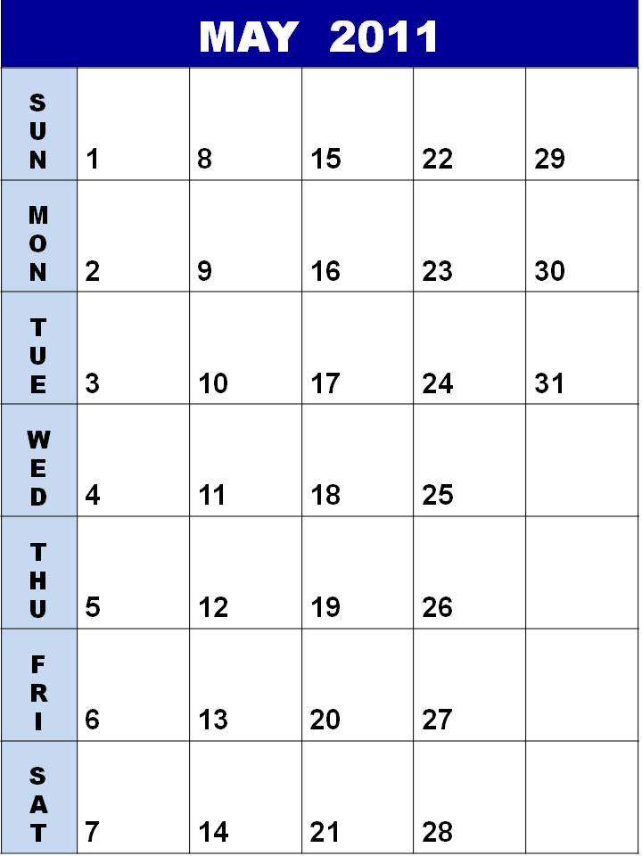 blank calendar 2011 may. may calendar 2011 blank.