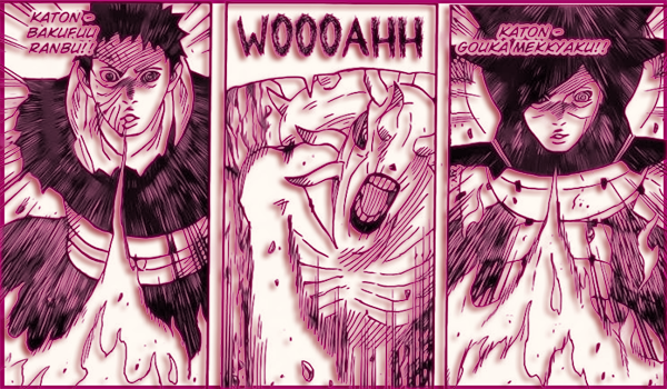 Naruto Manga 628 Katon Justu's of Madara and Obito