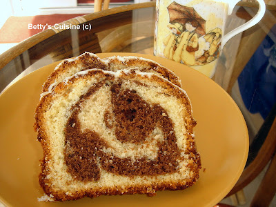 Δίχρωμο κέικ με σοκολάτα και γλάσο