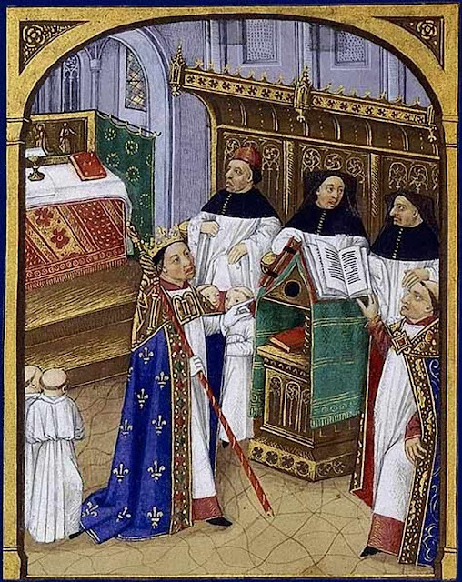 Roberto II o Piedoso, Grandes Chroniques de France, século XV, BNF