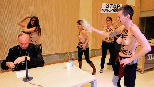 Ativistas do movimento Femen da Bélgica