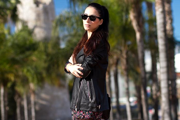 Outfit Estilo Punk inspirado en la colección de Saint Laurent con chaqueta oversized de cuero