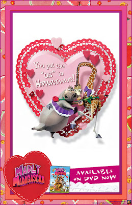 Free Madly Madagascar Valentine's Day E-cards