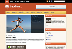 Annelana Blogger Template