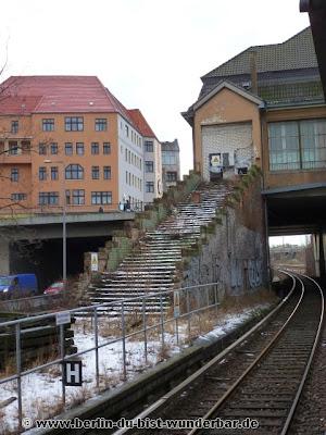 berlin, verschiede, bildern, sbahn, s-bahn, alte, ausser betrieb, treppe, bahnsteig