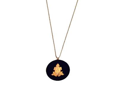 sautoir medaillon grenouille bijoux pas cher