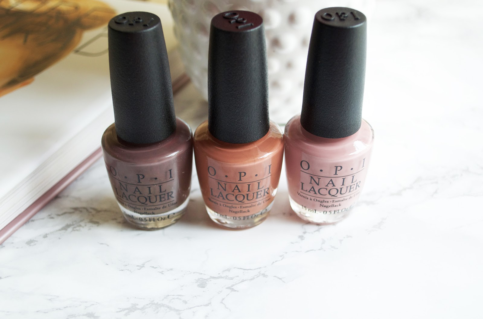 OPI You Don't Know Jacques!, OPI Tickle My France-y, OPI Chocolate Moose