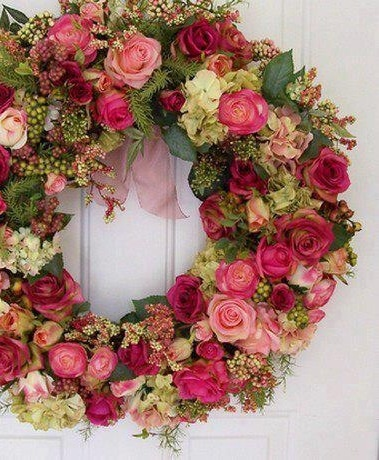çiçek,kapı süsü,