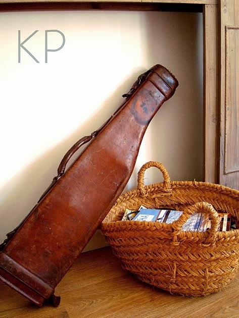 maleta antigua de cuero para armas coleccionistas