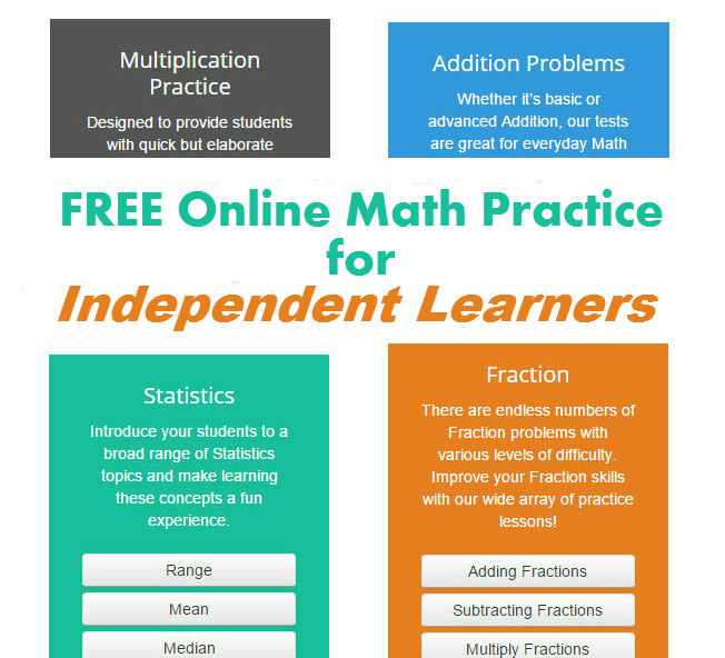 iPracticeMath.com allows independent learners to practice math, while providing parents with progress reports.