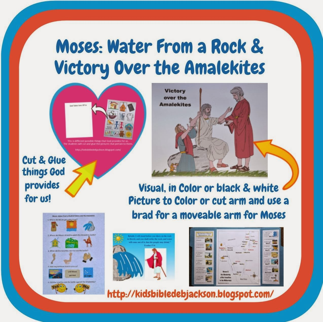 http://kidsbibledebjackson.blogspot.com/2013/10/moses-water-from-rock-victory-over.html