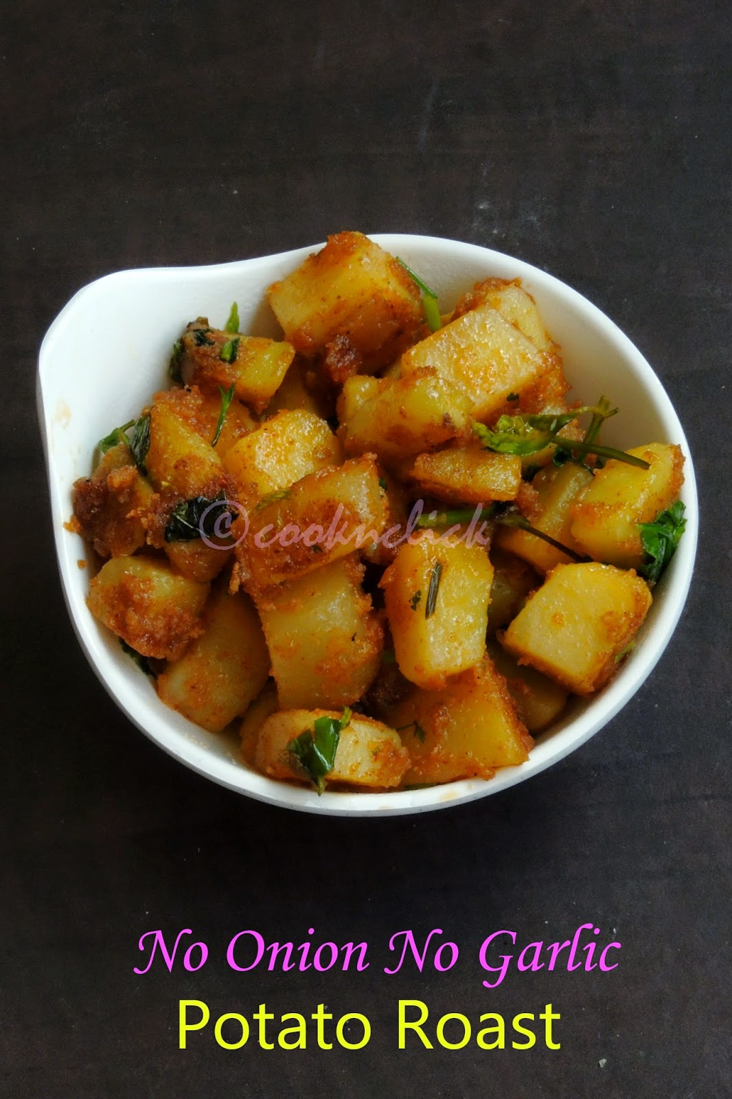 Easy Potato roast, no garlic no onion potato roast