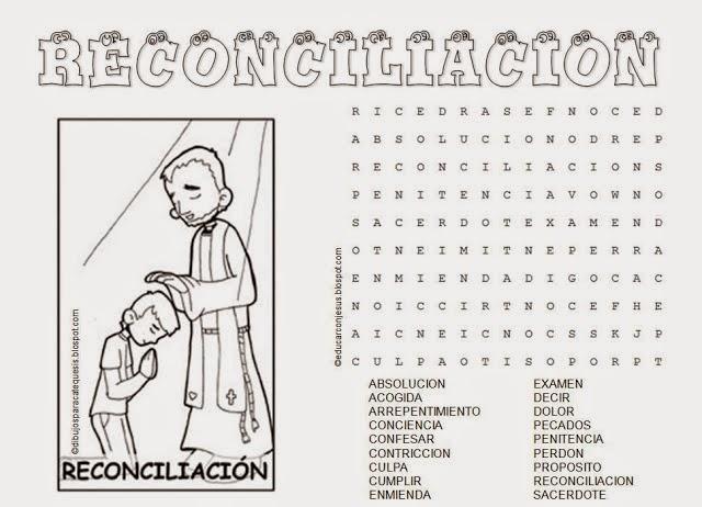 Mandamientos Del Matrimonio Catolico : Sopas de letras crucigramas dibujos y dinÁmicas sobre