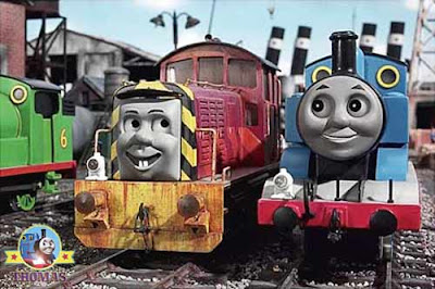 Thomas the tank engine and friends Salty the dockyard diesel in Day of the diesels CGI film for kids